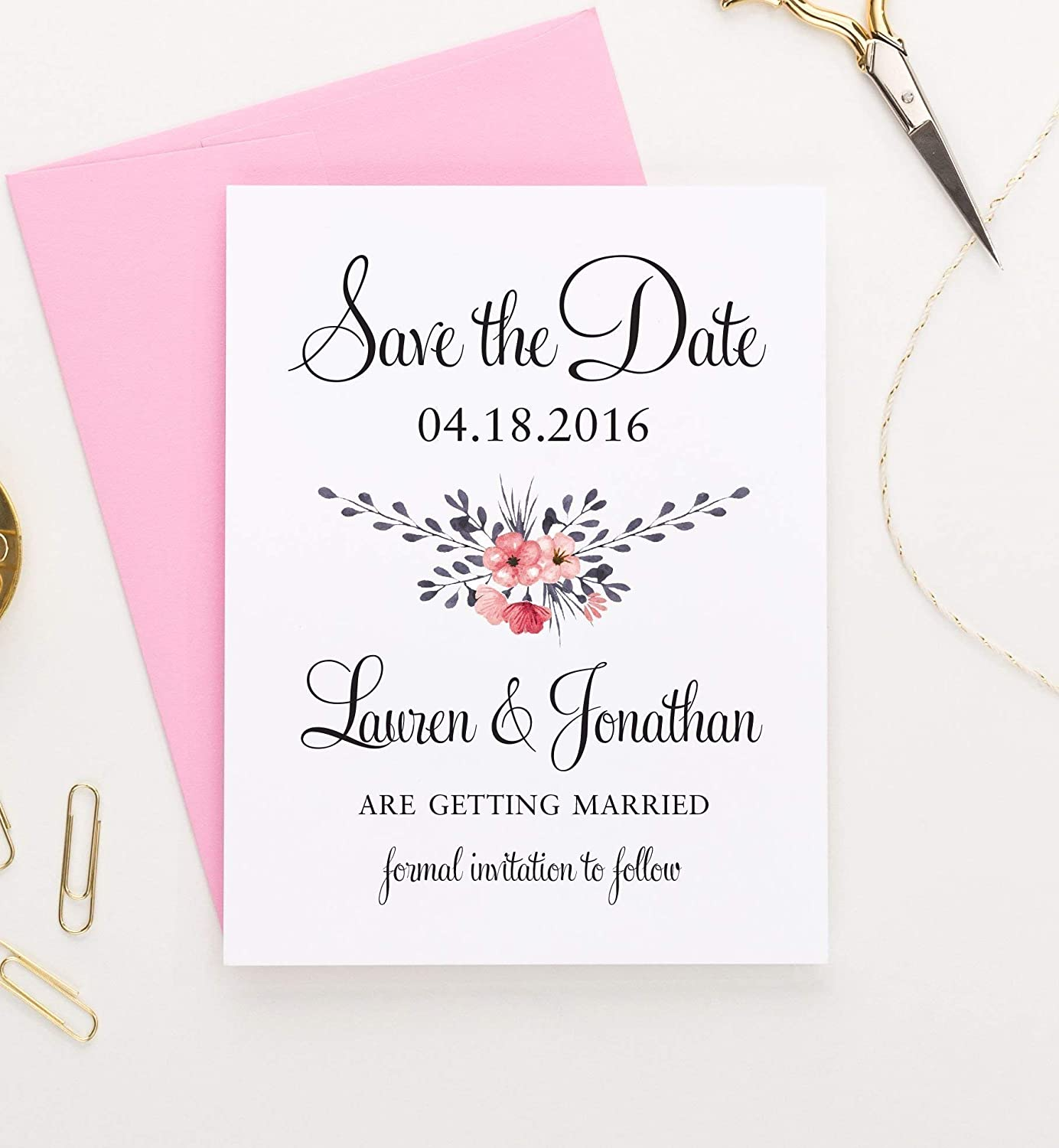Wedding Save the Date Gold Save the Date Card Save the Date Card Personalized Save the Date Photo Gold Save the Date Photo Wedding Card
