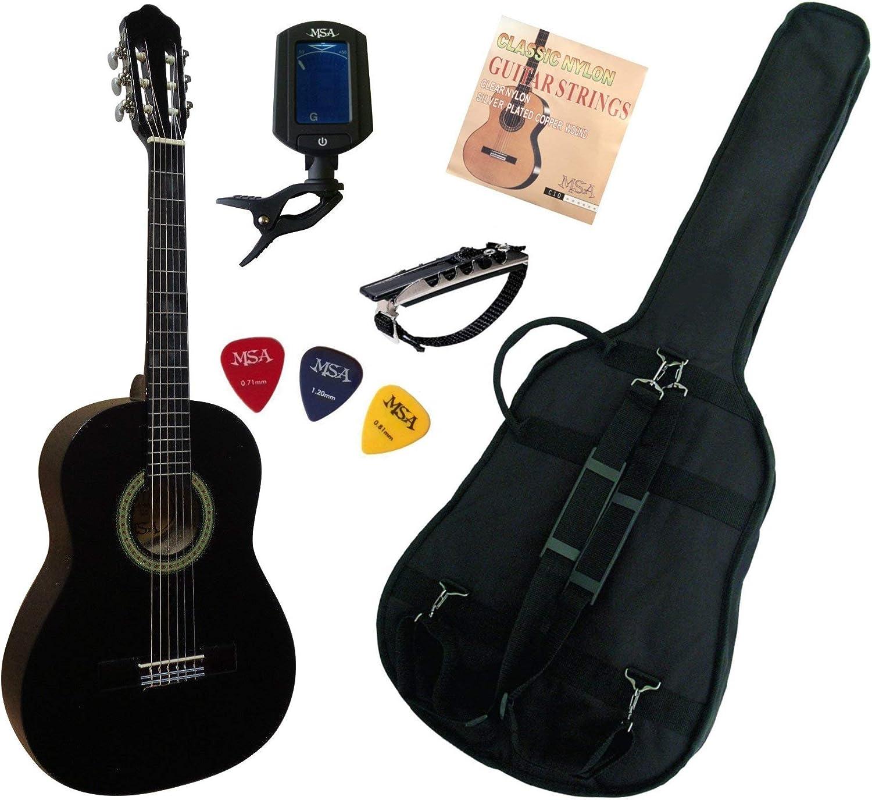 MSA-Guitarra clásica 3/4 8-13 años) (para niños con 5 accesorios ...