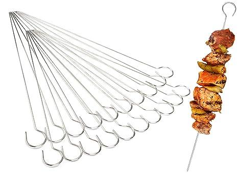 30 Stück Grillspieße Edelstahl Schaschlikspieße Rostfrei Fleischspieße 31 cm NEU