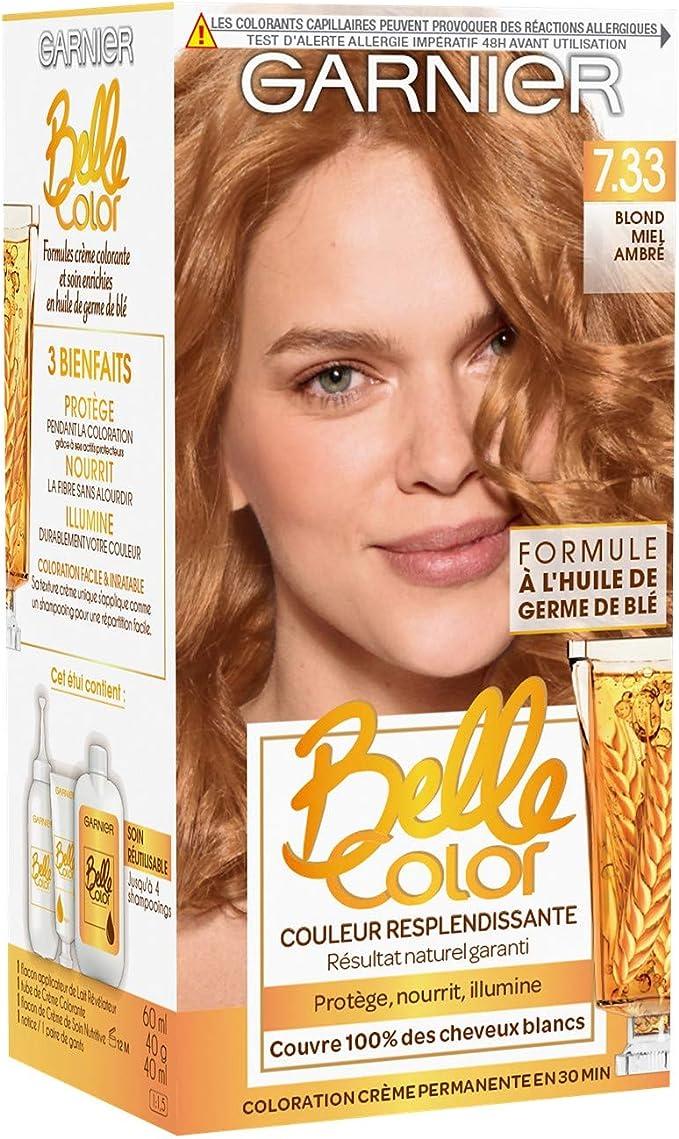 Garnier Belle Color Coloración Permanente 7.33 Rubio Miel Ámbar