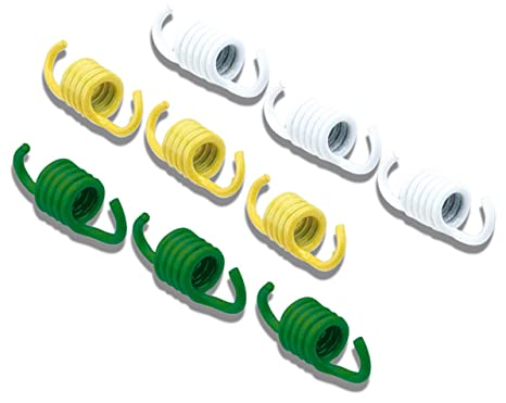 Plumas de embrague Malossi Deportes Fly/delta Clutch Color Blanco/Verde/Amarillo,