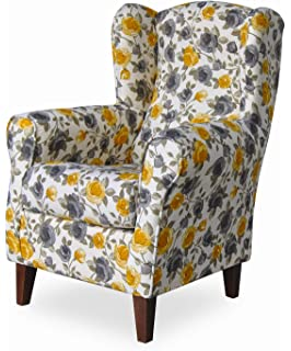 HOGAR TAPIZADO Butaca sillón orejero Nadia Color Menta 100 x ...
