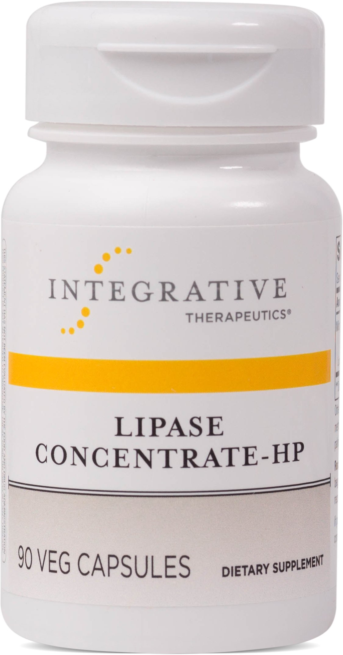 Integrative Therapeutics - Lipase Concentrate-HP - High Potency Enzyme Aids in Digestion of Fat and Absorbs Nutrients - Vegetable Capsules - 90 Count