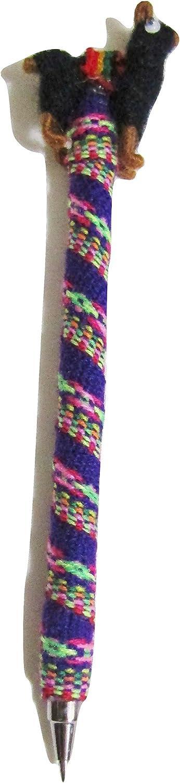 Peru Treasure Peruvian Handmade Llama Colorful Pen, Black