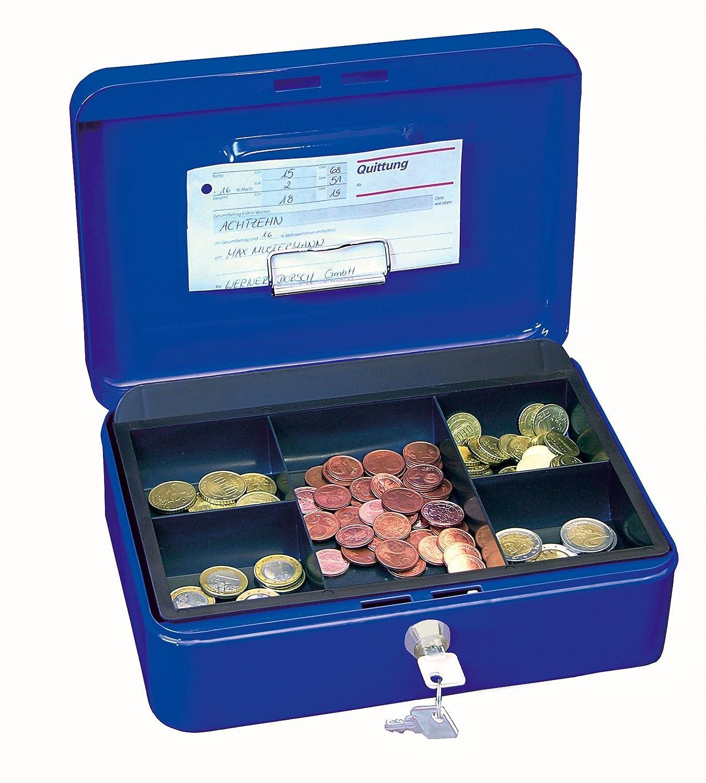 Wedo 145300H Caissette /à monnaie /à 5 compartiments avec clip 25 x 18 x 9 cm Blanc