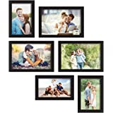 Art street Classy Memory Wall Photo Frame. - Set of 6 Photo Frame (3 Units of 4X6, 3 Units of 5X7)