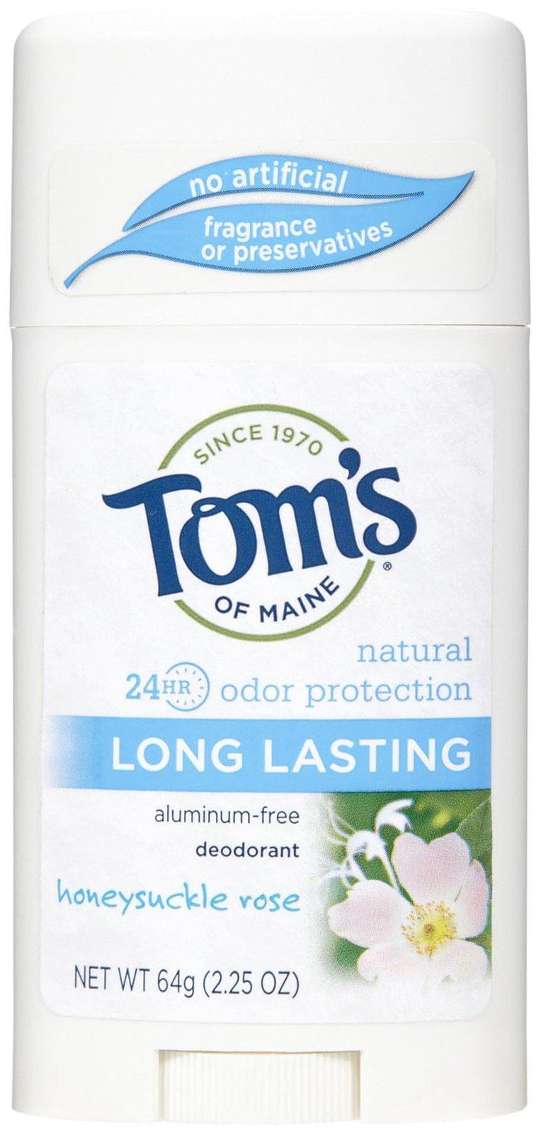 Tom's of Maine Natural Deodorant Aluminum Free Honeysuckle Rose -- 2.25 oz