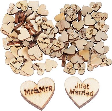 Bomboniere In Legno Per Matrimonio.100pz Cuoricini Cuore Legno Mini Decorazioni Legno Per Bomboniere