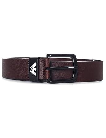 Armani Hommes ceinture en cuir texturé Brun  Amazon.fr  Vêtements et  accessoires 25c1dcbf635