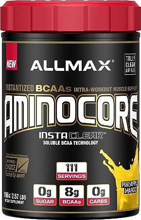 ALLMAX Nutrition Aminocore BCAAs, 100 Pure 45 30 25 Ratio, Pineapple Mango, 1166g