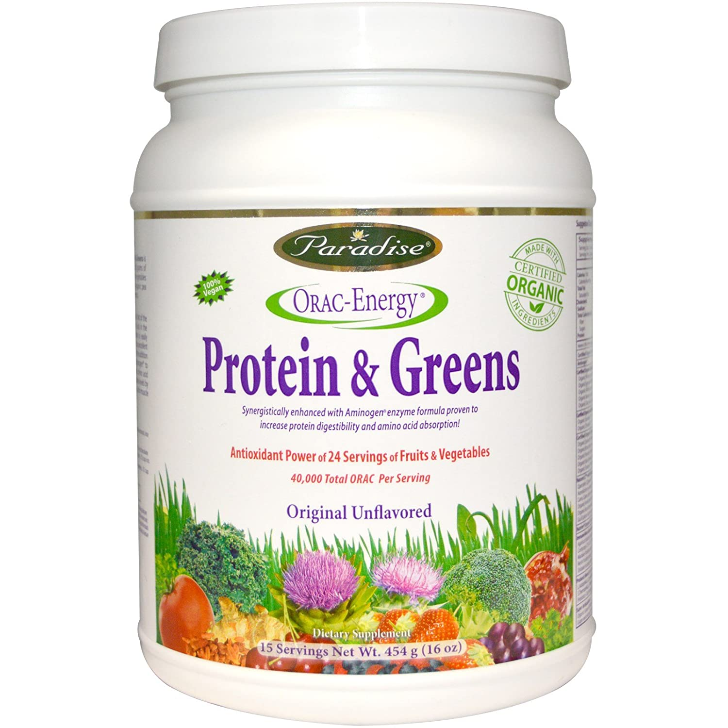 Amazon.com: orac-energy, Proteína y verdes, 16 oz (454 g ...