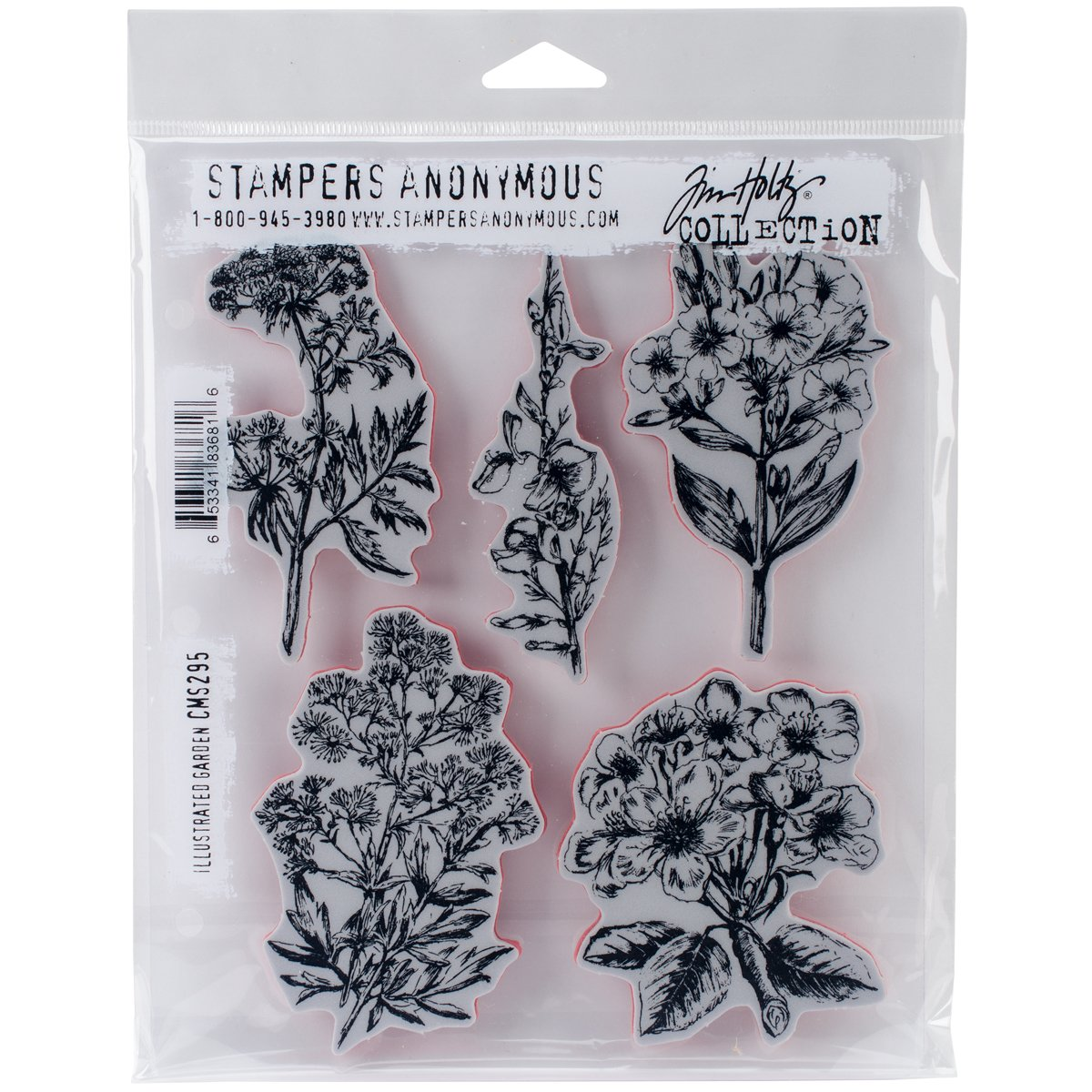 Tim Holtz Cling Stamps 7X8.5-Illustrated Garden