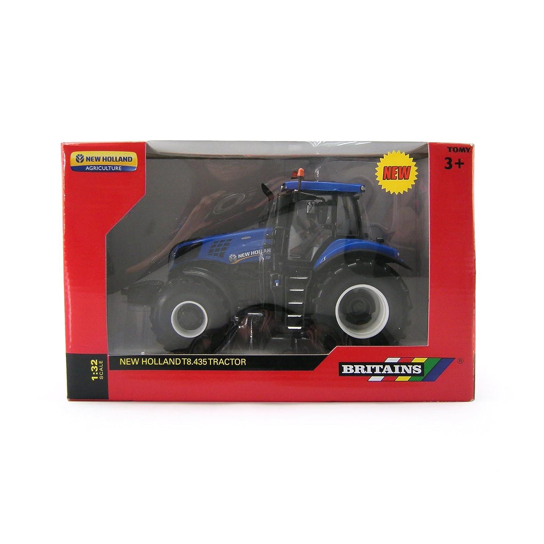 Britains - Tractor New Holland T8 435, color azul y negro (TOMY ...