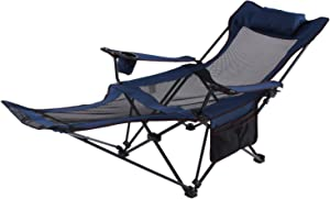 Seatopia Camping Recliner camping Lounge Chair, Backpacking Folding Chair with Headrest, Footrest and Storage Bag for Outdoor Camping, BBQ, 300lbs Weight Capacity