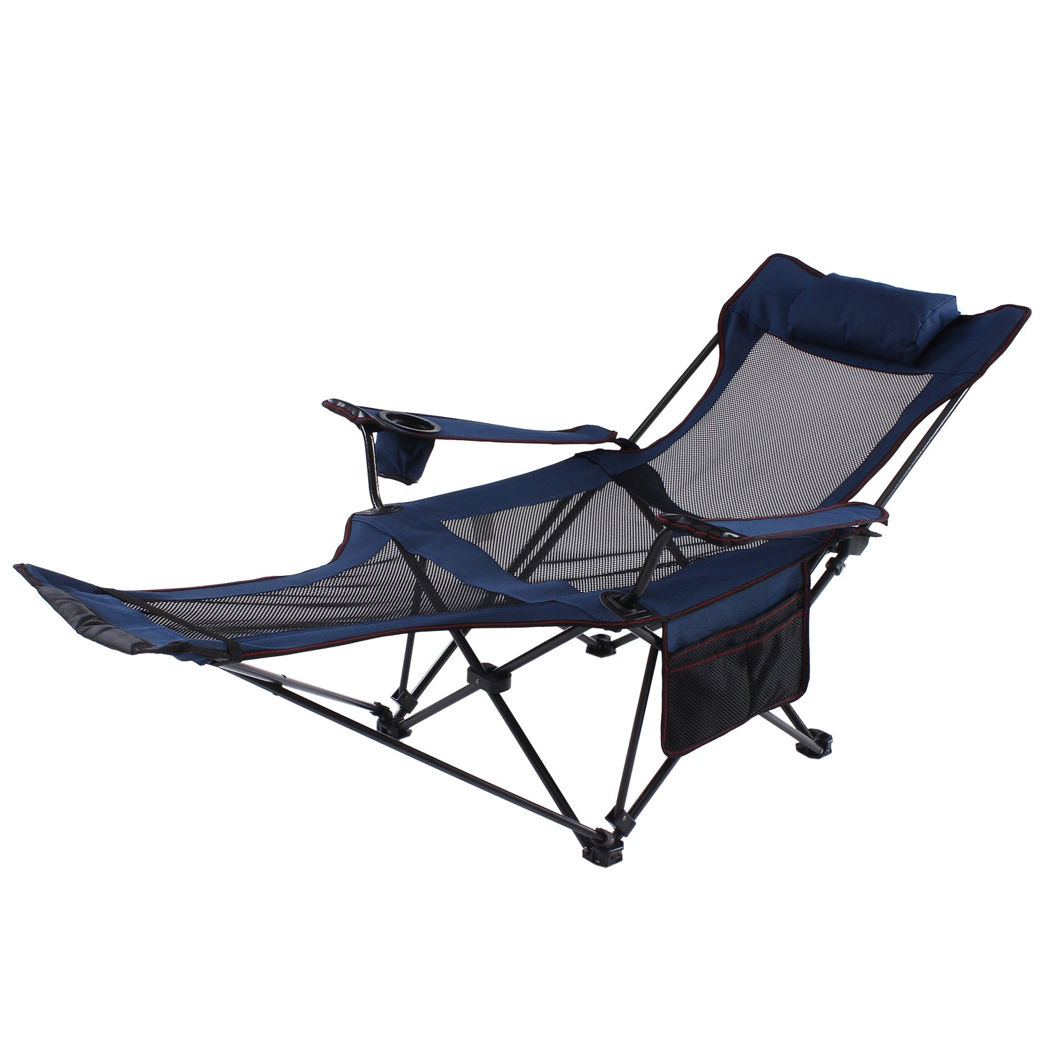 Magnificent Seatopia Camping Recliner And Lounge Chair Backpacking Folding Chair With Headrest Footrest And Storage Bag For Outdoor Camping Bbq 300Lbs Weight Unemploymentrelief Wooden Chair Designs For Living Room Unemploymentrelieforg