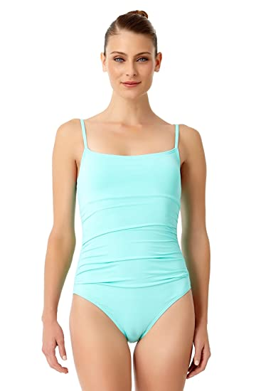 ee05e7a951a Anne Cole Women's Live in Color Shirred Lingerie Maillot One Piece Swimsuit  at Amazon Women's Clothing store: