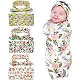 Bigface Up Set of 1 or 3 Swaddle Sack,Newborn Baby Sleep Blanket With Headband