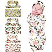 Bigface Up Set of 1 or 3 Swaddle Sack,Newborn Baby Sleep Blanket With Headband 3 sets