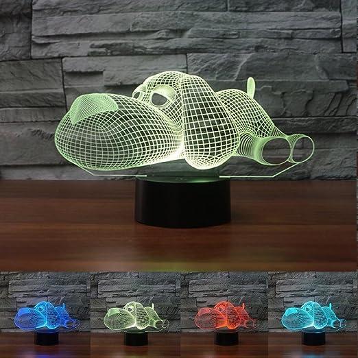 Amazon.com: 3d Snooze perro lámpara de luz de noche Touch ...