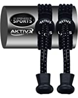 AKTIVX SPORTS LACES - No Tie Elastic Shoelaces that Lock, USA Design Available Worldwide, Replacement Elastic Running Shoelaces for Mens, Womens, Seniors & Kids Shoes, Cleats, Boots