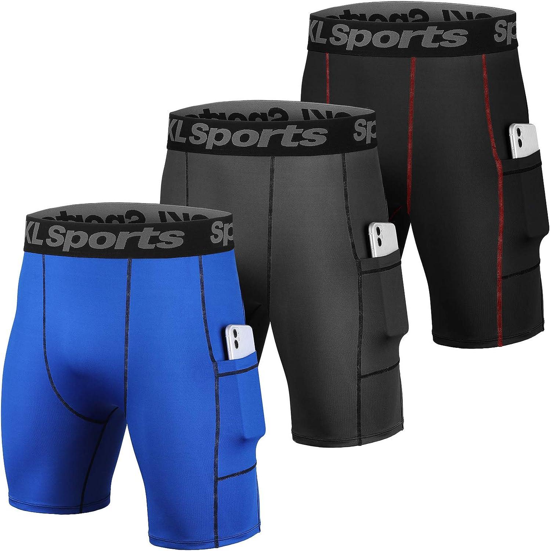 SKL Men's Compression Shorts Pants Sports Baselayer Tights Workout Underwear