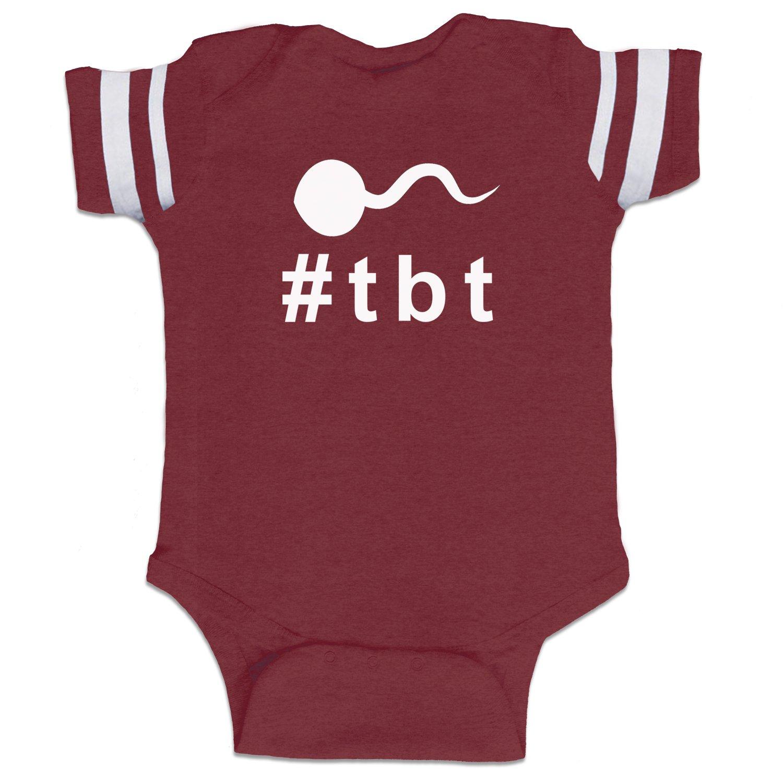 46037928f Decal Serpent Throwback Thursday Hashtag Sperm #tbt Funny Baby Boy Bodysuit  Infant