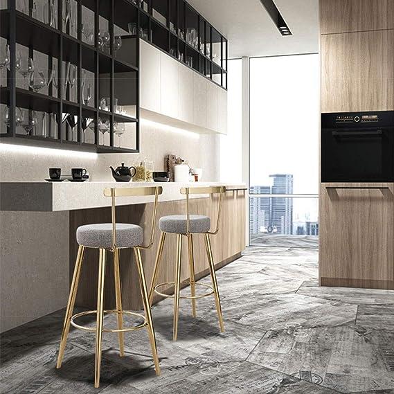 75cm seat high LEI ZE JUN ☀ JBD Sgabello da bar moderno semplice arte di ferro rotondo sedia caff/è contatore personalit/à sedile manutenzione Nero metallo