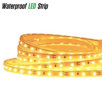 LUXJET 12V 9.9ft LED Rope Lights Under Cabinet Strip Light Kit, IP65  Waterproof 2835SMD