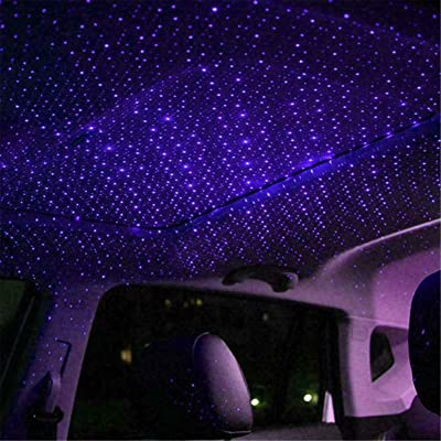 USB Car Roof Atmosphere Star Sky Lamp Interior Convenience Bulbs Dome Lights for All cars: such as bmw audi, benz, ford, honda, mazda, Nissan, toyota, Lincoln, jeep. (Ultra violet and blue): Automotive