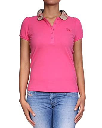 ff20dcf9781e BURBERRY Brit - Polo pour Femme YNG81270 - Rose, XS  Amazon.fr ...