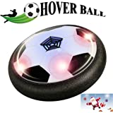 Magical Hover ball - Bdwing BD04 Air Power Soccer ball Size 4, Boys Girls Sport Training Football, Indoor or Outdoor Disk with Foam Bumpers and powerful LED lights, Children Kids Toys