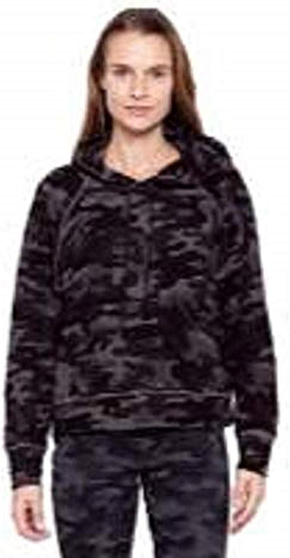 SUNDRY Womens Floral Pocket Raglan Hoodie