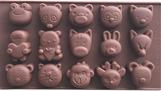 Mold Mould  for sugarcraft CUP CAKE,Clay Sugar Cake Cute Animal set #2