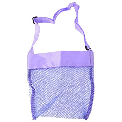 Cute Kid Baby Conch Shell Toys Storage Beach Mesh Crossbody Bag Beach Mesh Tote Bags with Adjustable Carrying Straps