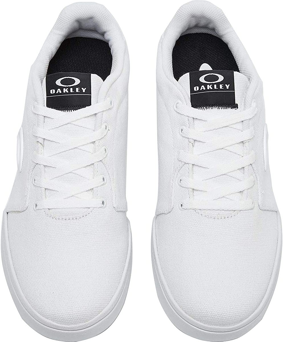 Oakley pour Hommes en Toile Formateurs Flyer Blanc