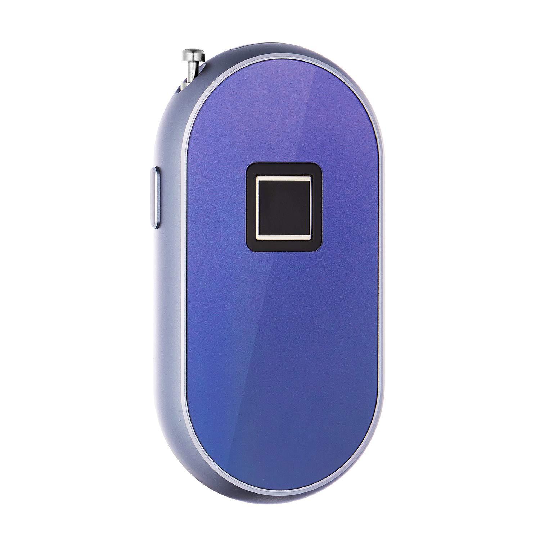 ROYAL DEFENDER Fingerprint Lock 0.5s Touch Unlock Smart Biometric Lock Keyless Padlock 85db Loud alarm Anti-theft Luggage Cable Lock,suitable for Backpack Handbag Suitcase (Purple)
