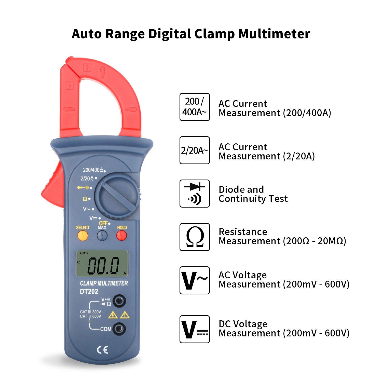 Digital Clamp Meter Jellas Dt 202 Digital Multimeter Trms 2000