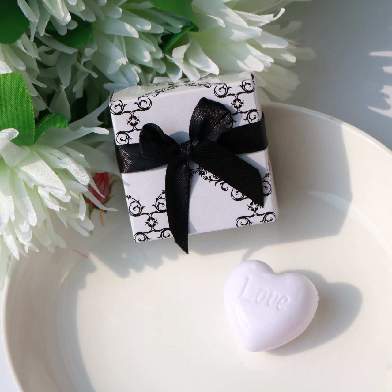 AiXiAng Cute Mini 24 Pieces Heart Soap for Wedding Soap Favors and Gifts or Baby Shower Soap Favors by AiXiAng