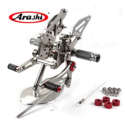 Arashi Rearsets Footrests FootPegs for KAWASAKI Ninja 300 EX300B ABS / EX300A/ EX300 ABS/ EX300A / SE 2013-2017 Motorcycle Accessories Adjustable Foot ...