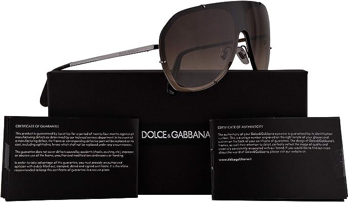 Dolce & Gabbana DG2162 gafas de sol w/Brown Gradient 137mm lente DG 0413 2162 mujer bronce de cañón de Brown Grande: Amazon.es: Ropa y accesorios