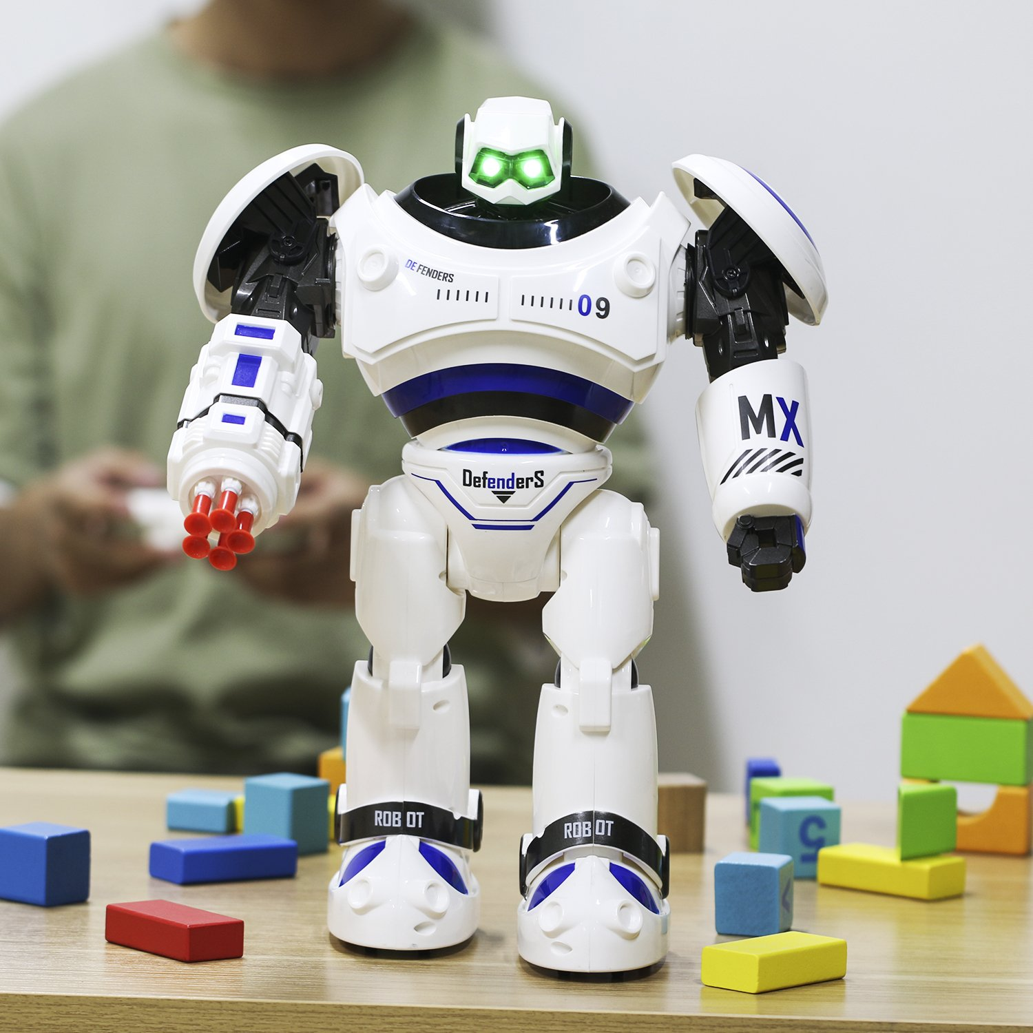 SGILE RC Robot Toy, Programmable Intelligent Walk Sing Dance Robot for Kids Gift Present, White by SGILE (Image #7)