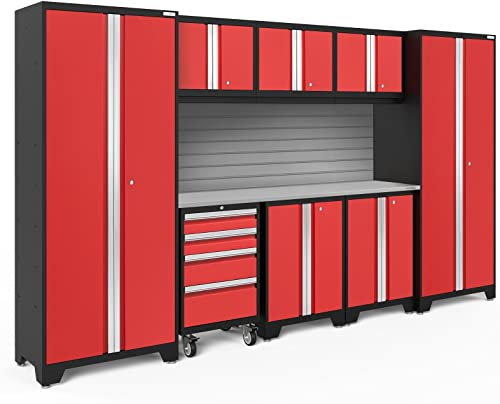 NewAge Products Bold 3.0 Red 9 Piece Set, Garage Cabinets, 56291