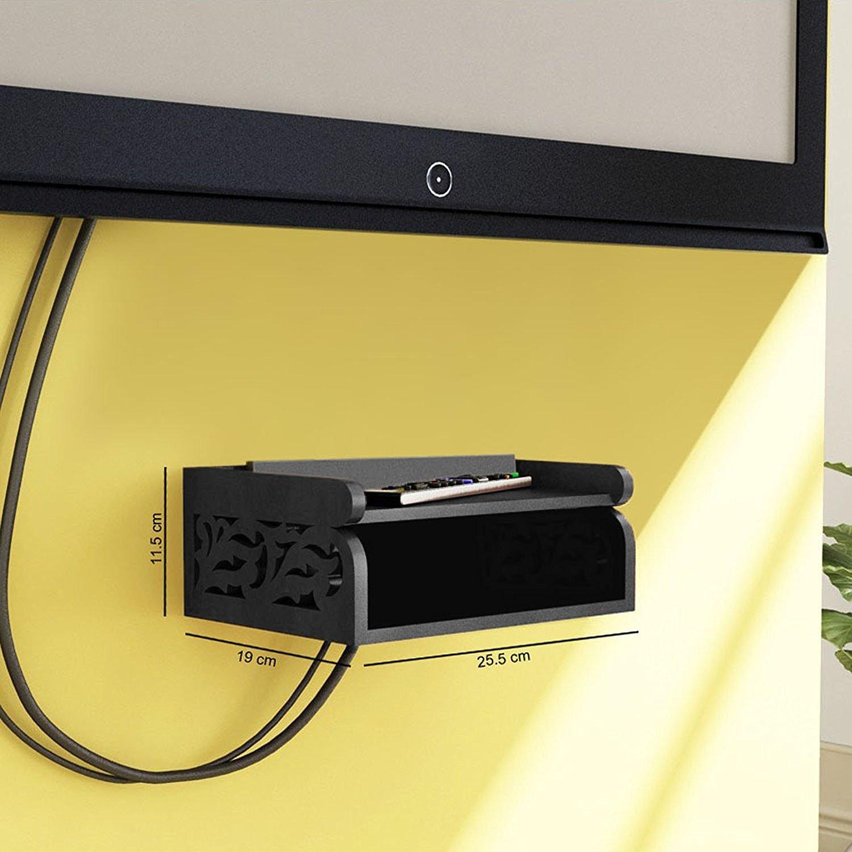 onlineshoppee set top box wall shelf (black) amazonin home  - onlineshoppee set top box wall shelf (black) amazonin home  kitchen