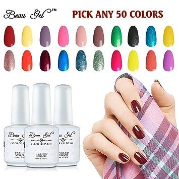 Amazon.com: Beau Gel elegir cualquier 5 Multi colores Soak ...