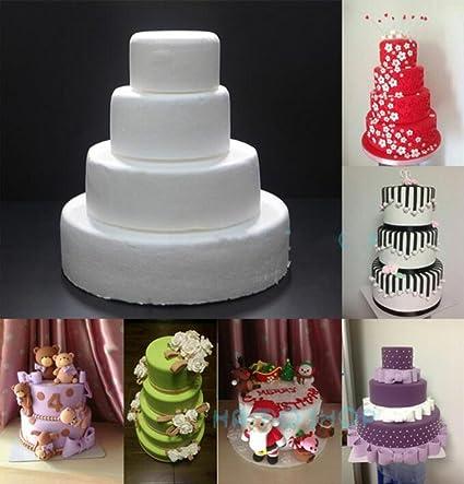 10 /& 12 Round Round 3 Cake Dummies Set Of 4 Each 3 High By 6 8