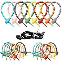 Silicone Cable Ties Herbruikbare Siliconen Kabelbinders Herbruikbare Kabelbinders Multifunctionele Ties Kleurrijke…