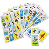 Original Loteria Bingo Game Set in Spanish, Mexican Loteria for 10 Players - 10 Boards and Full Deck of Cards