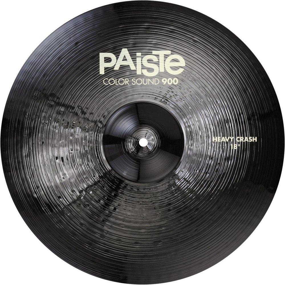PAiSTE (パイステ) Color Sound 900 Series Heavy Crash 18″ BLACK ヘビークラッシュシンバル 18インチ   B06Y6JQ794