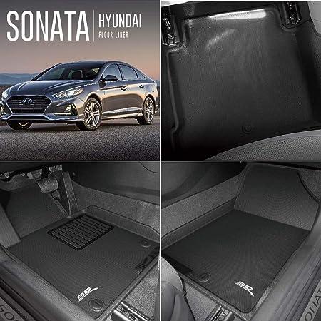 Coverking Custom Fit Front and Rear Floor Mats for Select Hyundai Sonata Models Nylon Carpet Black CFMBX1HI9208