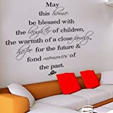 May this family be blessed - Wall Decal Sticker Quote -B by Rondaful